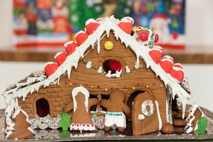 winterliches Pfefferkuchenhaus
