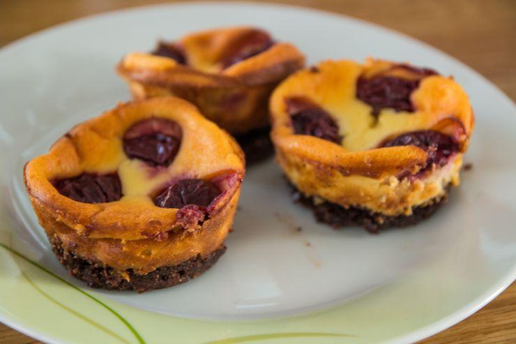 Kirsch-Quarkkuchen-Muffins